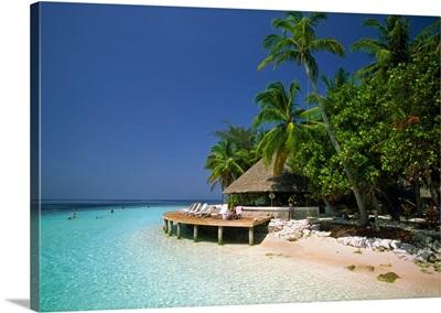 Maldives, Male Atoll, Thuru, Tropics, Indian ocean, View of the island