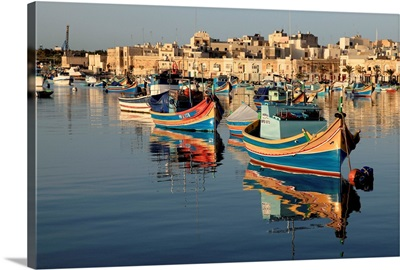 Malta, Mediterranean sea, Marsaxlokk, The fishermen village