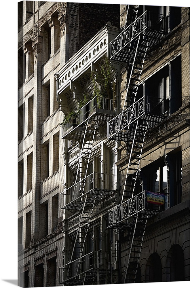 Manhattan, New York City, Downtown, Emergency Stairs