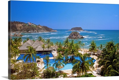 Mexico, Oaxaca, Pacific ocean, Huatulco, Tangolunda Beach, Sheraton Hotel