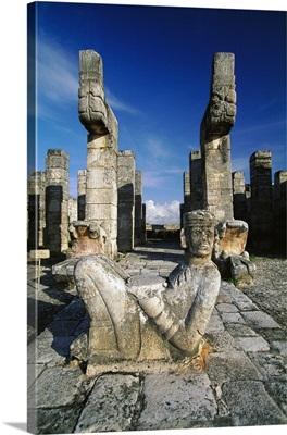Mexico, Yucatan, Chichen Itza, Warriors Temple, the Chac God