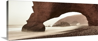 Morocco, Atlantic ocean, Sidi Ifni, Natural Arches of Legzira near Sidi Ifni