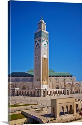 Morocco, Casablanca, Mosque Hassan II