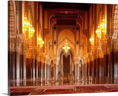 Morocco, Casablanca, Mosque Hassan II, interior