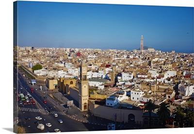 Morocco, Casablanca, Mosque Hassan II, Old Medina and Hassan II Mosque
