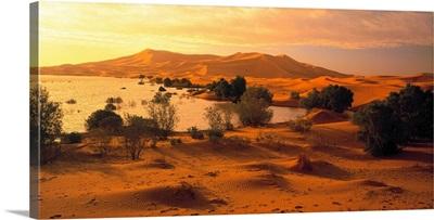 Morocco, Erg Chebbi desert, sand dunes