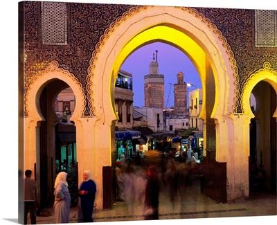 Morocco, Fez, Bab Boujeloud, looking through into the Medina