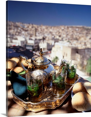 Morocco, Fez, Mint tea