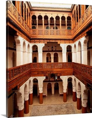 Morocco, Fez, Nejjarine museum, wooden handicrafts