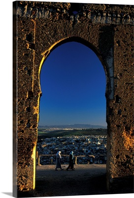 Morocco, Fez, view of city from the tombs of Merinids