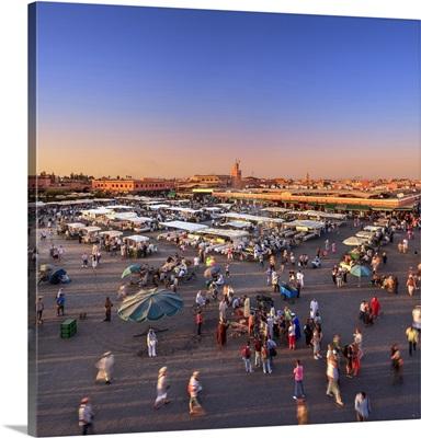 Morocco, Marrakech, Marrakesh, Jemaa el fna square