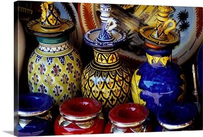 Morocco, Marrakech, Moroccan pottery
