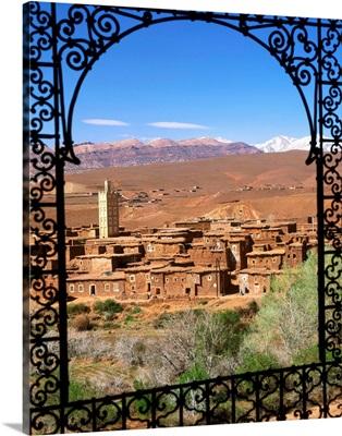 Morocco, Telouet, High Atlas, view of the village
