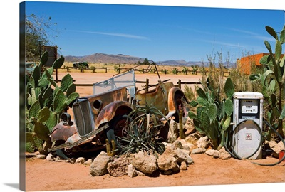 Namibia, Khomas, Solitaire, Only petrol station in hundreds of km of desert