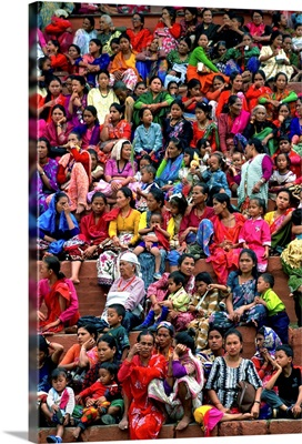 Nepal, Kathmandu, Durbar square, crowded