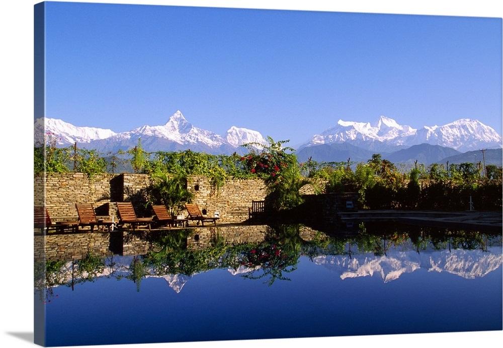Nepal, Western, Pokhara, Shangri La hotel