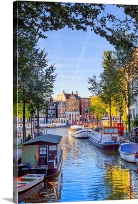Netherlands, Benelux, Amsterdam, Groenburgwal Canal