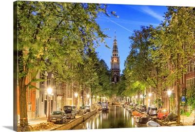 Netherlands, Benelux, Amsterdam, Montelbaan Tower at Oude Schans