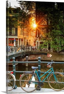 Netherlands, Benelux, Amsterdam, Prinsengracht Westerkerk on Prinsengracht Canal