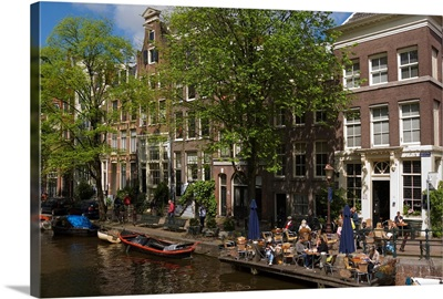 Netherlands, North Holland, Amsterdam, view of the canal