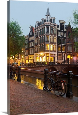 Netherlands, North Holland, Amsterdam, view on the canal