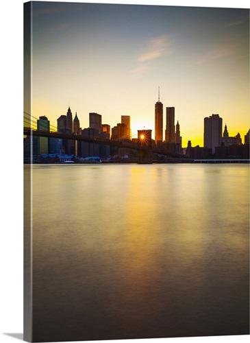New York City, East River, Brooklyn, Dumbo, Brooklyn Bridge, Skyline ...