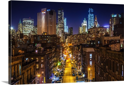 New York City Manhattan Lower East Side Chinatown Chinatown At Night Wall Art Canvas Prints Framed Prints Wall Peels Great Big Canvas