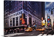 New York City, Manhattan, Times Square, Hard Rock Cafe and Paramount buildings