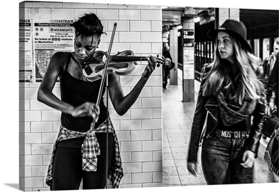 New York City, Musician in the subway