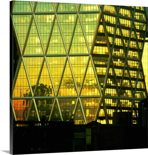 New York City, The Hearst Tower at sunset Wall Art, Canvas Prints ...
