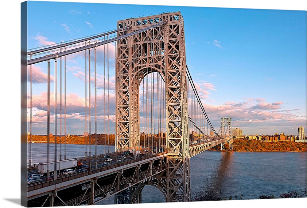 New York, NYC, George Washington Bridge, View From New Jersey