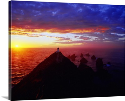 New Zealand, South Island, Cattlins Coast, Nugget Point