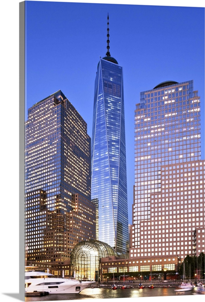 digital print Manhattan digital photo wall art home decor Freedom Tower World Trade Center Lower Manhattan NYC