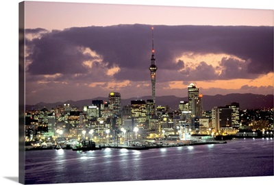 Oceania, New Zealand, North Island, Auckland, View from Mount Victoria towards the city
