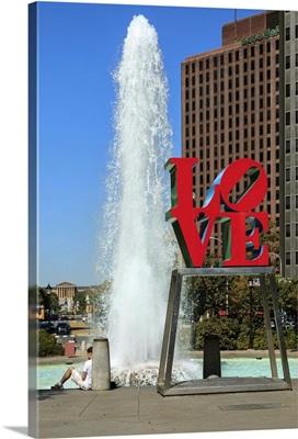 Pennsylvania, Philadelphia,Center City, Love Park, and Love Sculpture