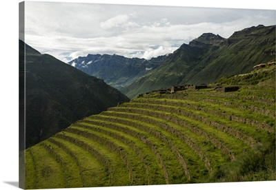 Peru, Cuzco, Pisac, Traditional terraced fields, Sacred Valley