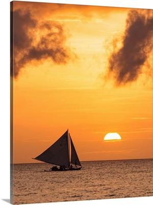 Philippines, Visayan Islands, Visayas, Boracay Island, 'Paraw' Boats, White Beach
