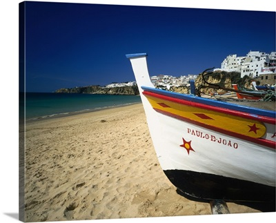 Portugal, Albufeira, Beach and town