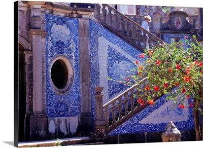 Portugal, Algarve, Palacio de Estoi, azulejos