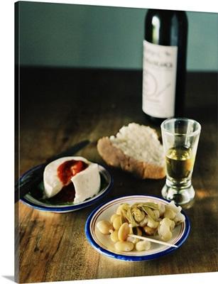 Portugal, Azores, Terceira, Quinta do Martelo, food and wine