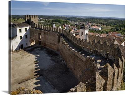 Portugal, Beja, Alentejo, Alandroal, a historic Alentejo town, Alandroal castle ramparts