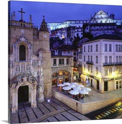 Portugal, Coimbra, Praca de Maio, Igreja de Santa Cruz