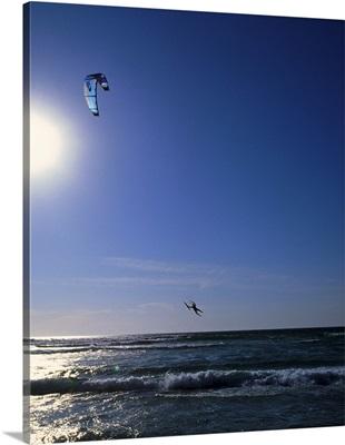 Portugal, Costa de Lisboa, kite surfing