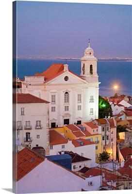 Portugal, Distrito de Lisboa, Lisbon, Alfama, View from Miradouro de Santa Luzia