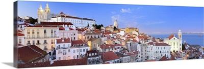 Portugal, Distrito de Lisboa, Lisbon, Alfama, View from Santa Luzia view point