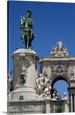 Portugal, Distrito de Lisboa, Lisbon, Baixa, Praca do Comercio square