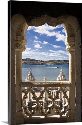 Portugal, Distrito de Lisboa, Lisbon, Belem, Belem Tower, Tower and Tejo river