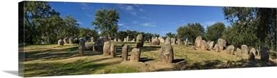 Portugal, Evora, Alentejo, Cromeleque dos Almendres, megalithic stone circle