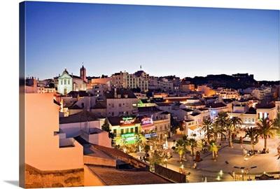 Portugal, Faro, Albufeira, Algarve, Historical centre with the Torre Sineira