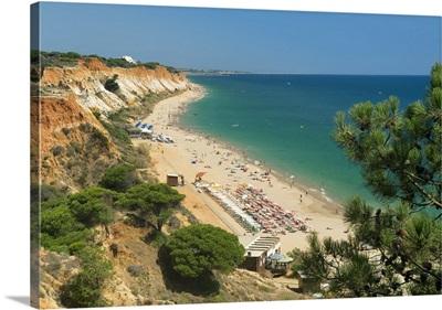 Portugal, Faro, Albufeira, Algarve, Praia da Falesia beach